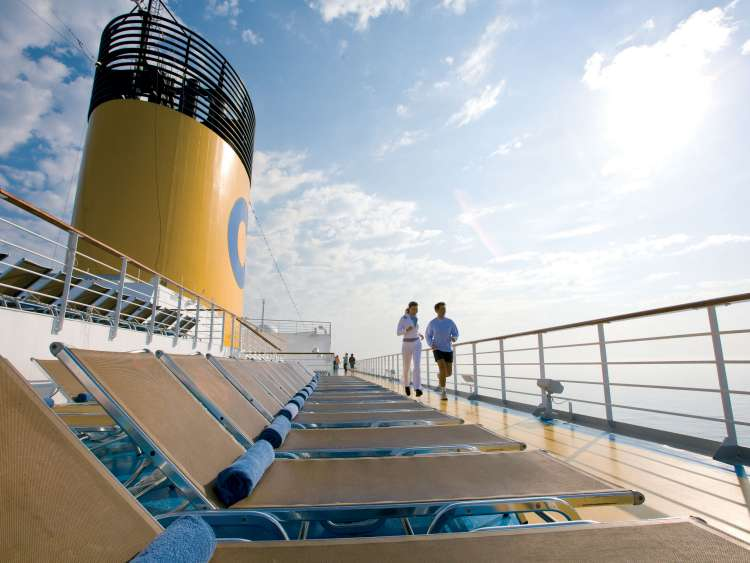 Jogging aboard Costa Cruises ships