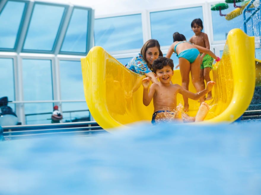 The water slide aboard Costa Cruise ships