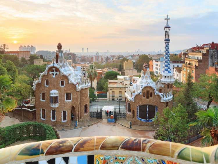 Gaudi and the Parc Guell in Barcelona on a Costa Cruise