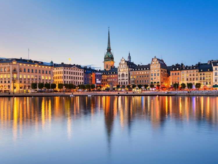 Northern Europe and the city of Stockholm Sweden on a Costa Cruise