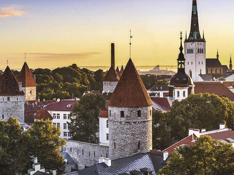 The city of Tallinn in Estonia on a Costa Cruise